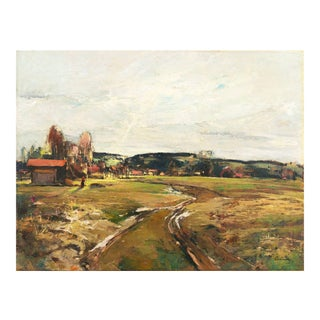 'Hungarian Spring Landscape' by Denes Csanki, Fine Arts Museum of Hungary, Munich, Berlin For Sale