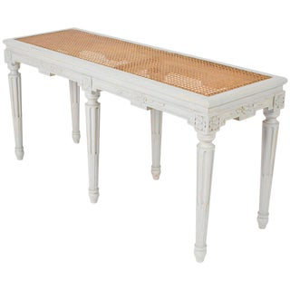 Louis XVI Caned Seat Bench