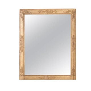 French 19th Century Empire Gold Gilt Mirror For Sale