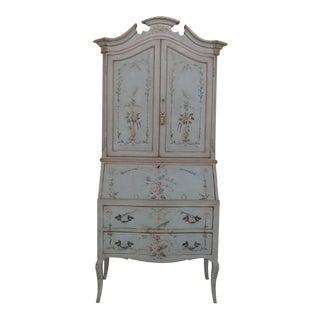 Venetian Paint Decorated Secretary Desk For Sale