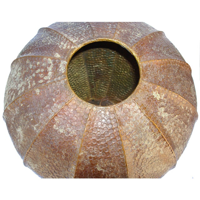 Large Hammered Copper Pot - Image 4 of 5