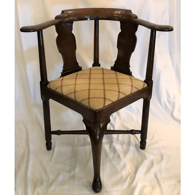 Antique English 19th Century Mahogany Corner Chair For Sale - Image 4 of 5