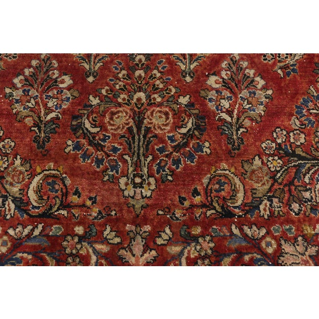 Antique Sarouk Persian Rug With Traditional Style - 03'04 X 04'08 For Sale - Image 4 of 10