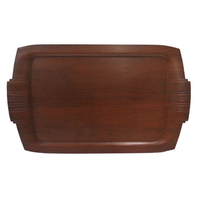 Mid-Century Wooden Tray - Image 1 of 3
