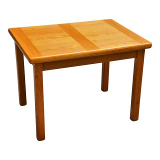 1980s Vintage a.b.j., Denmark Danish Modern Teak Inlay Side Table For Sale