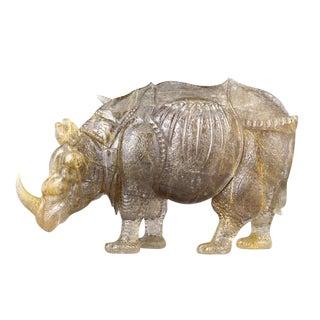 Rutilated Quartz Rhinoceros by Andreas Von Zadora-gerlof