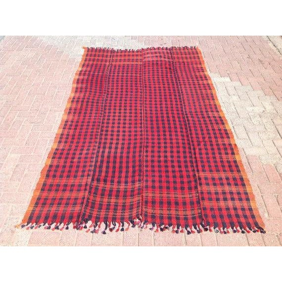 This beautiful, vintage, handwoven blanket is approximately 50 years old. It is handmade, of very fine quality in all...