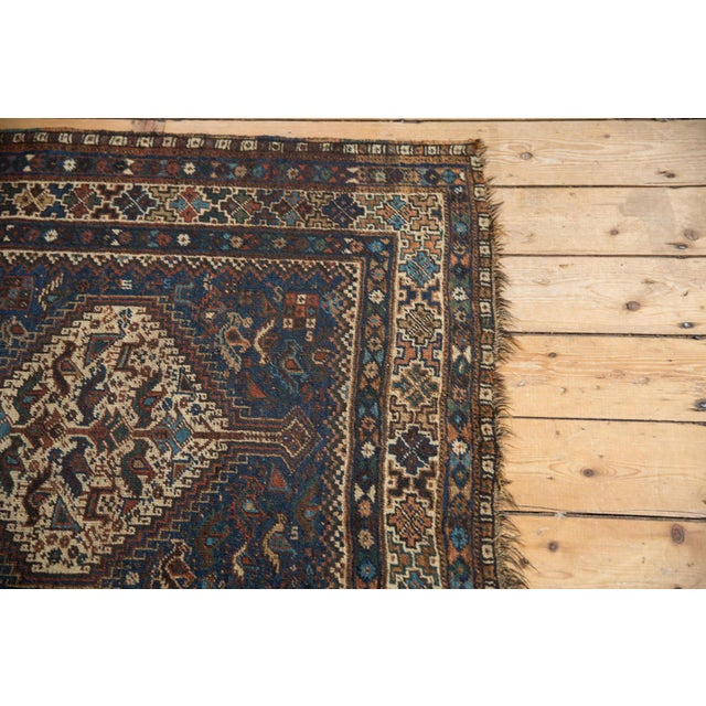 """Vintage Qashqai Rug - 3'8"""" x 5'6"""" For Sale In New York - Image 6 of 13"""