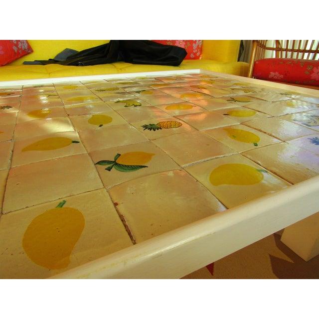 Custom Made Mario Genovesi Tile Top Table - Image 5 of 6