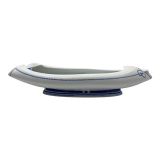 Japanese Porcelain Blue & White Canoe Planter Jardiniere For Sale