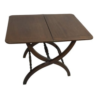 Antique Neo Classical Mahogany Folding Portable Bar Table For Sale