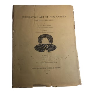 1925 Decorative Art of New Guinea Book For Sale