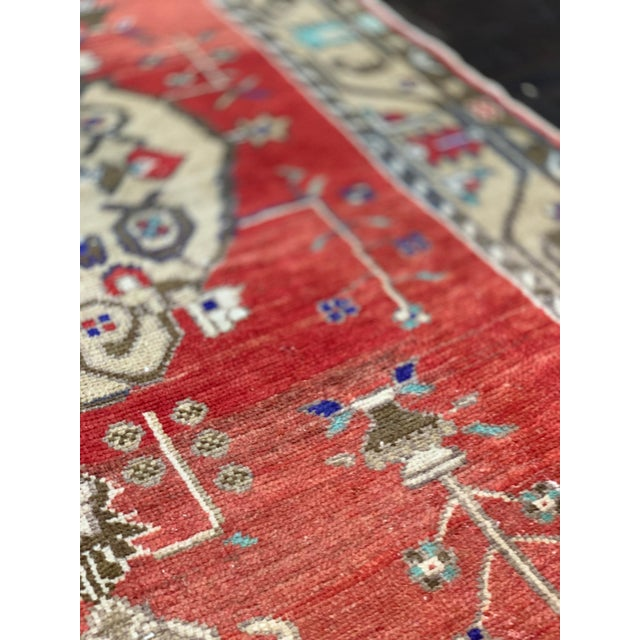 """Empire Vintage Turkish Anatolian 1940's Rug-4'4""""x8'3"""" For Sale - Image 3 of 13"""