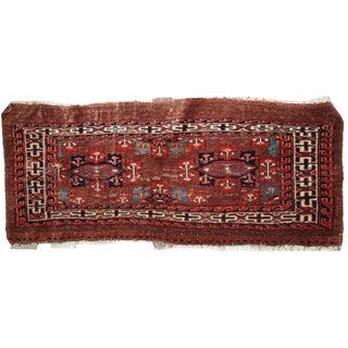 "Antique Handmade Turkoman Yomud Rug - 1'3"" x 3' For Sale"