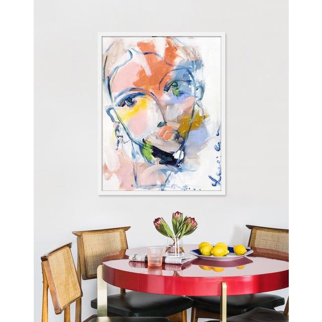 Giclée on textured fine art paper with white frame. Unframed print dimensions: 24.75x31.75. Leslie Weaver is a mixed media...
