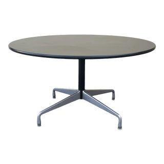 1960s Charles Eames by Herman Miller Black, Aluminum Dining Table For Sale