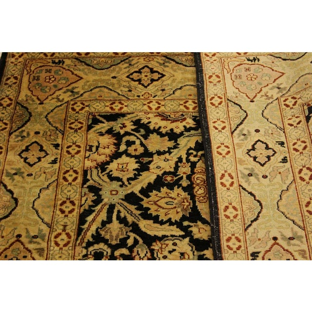 2010s Istanbul Dorla Black/Tan Turkish Hand-Knotted Rug -4'2 X 6'7 For Sale - Image 5 of 8
