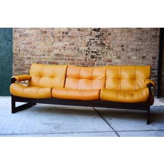 Mid-Century Percival Lafer Brazilian Leather Sofa Preview
