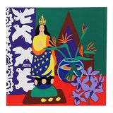 "Image of ""Vanda"" Pencil Signed Serigraph Print by Hunt Slonem For Sale"
