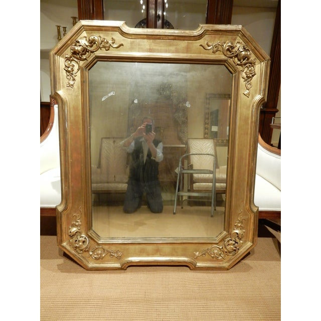 Early 19th Century Italian Gold Gilt Mirror For Sale - Image 9 of 9