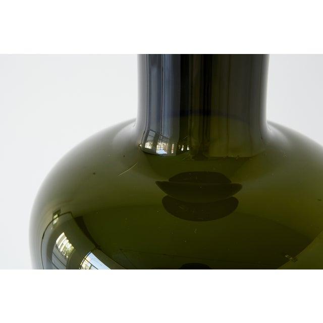 Danish Modern Glass Bottle Vase by Kastrup Holmegaard For Sale - Image 3 of 5