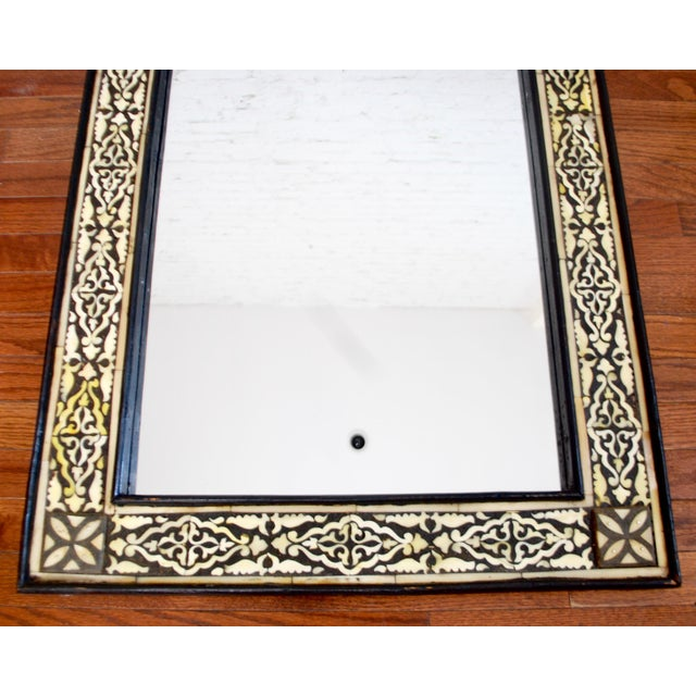 Boho Chic Moroccan Bone Inlaid Mirror For Sale - Image 3 of 4