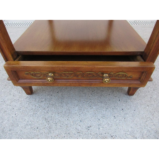 This beautiful two-tiered side table is made by Fine Arts Furniture Company (FAFC) out of Grand Rapids, Michigan. The...