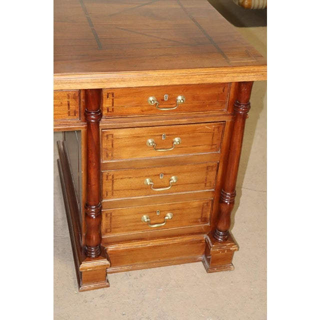 Italian Inlaid Walnut Executive Desk For Sale In Philadelphia - Image 6 of 10