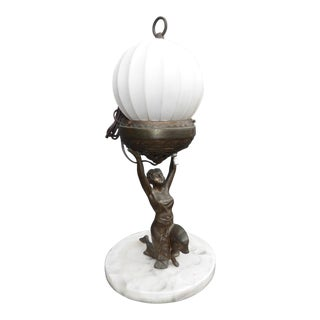 Vintage French Provincial Small Table Lamp Light For Sale
