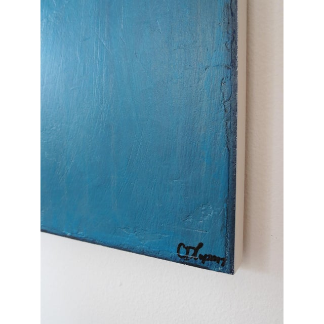 Blue Velvet Sunrise, I & II. Mixed Media Oil on Panel - Pair - Image 11 of 11