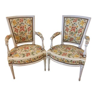 18th Century French Directoire Armchairs- A Pair For Sale