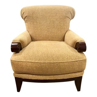 Pearson Chair Upholstered in Gold Chenille Fabric For Sale
