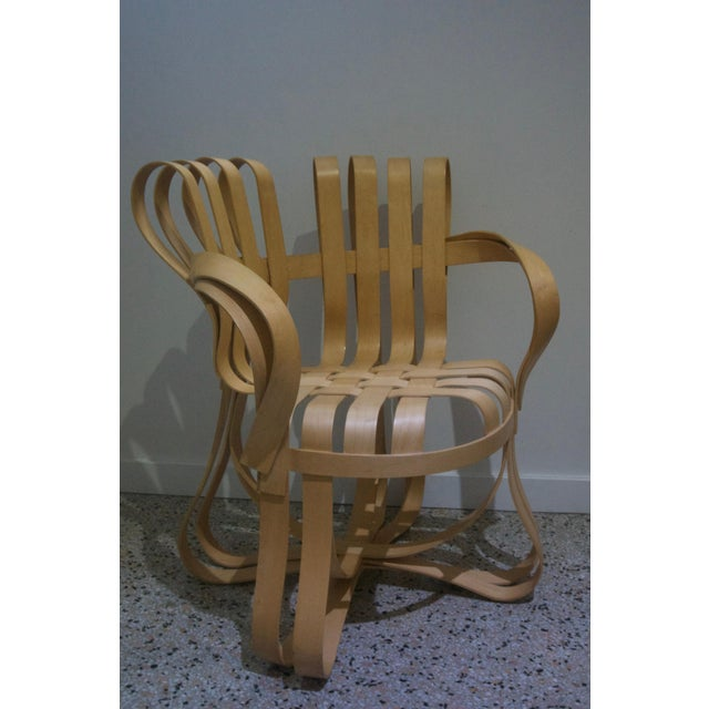 "Boho Chic ""Cross Check"" Bentwood Armchairs by Frank Gehry for Knoll 1993 - a Pair For Sale - Image 3 of 13"