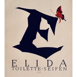 1923 Original German Poster, Elida (Perfume, Eau De Toilette) For Sale