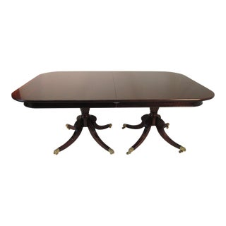 Solid Mahogany Dining Table For Sale