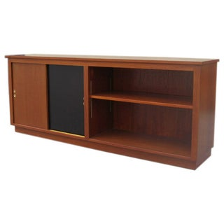 Danish Teak Credenza with Bookshelf