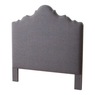 Contemporary Queen Paliazo Dark Gray Headboard For Sale