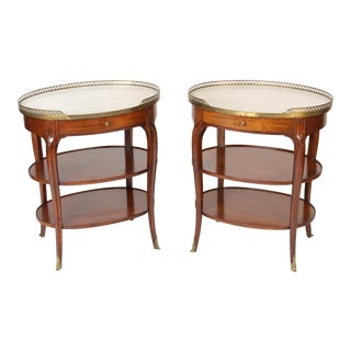 1940s Louis XV Style Occasional Tables - a Pair