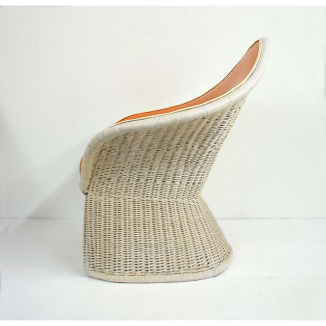 1970s Orange Spade Lounge Chairs - A Pair - Image 3 of 4