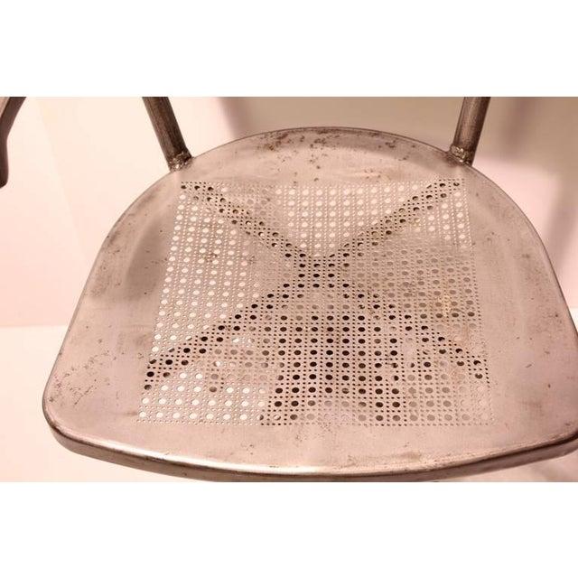 1930's Industrial Metal Desk Chair - Image 4 of 4