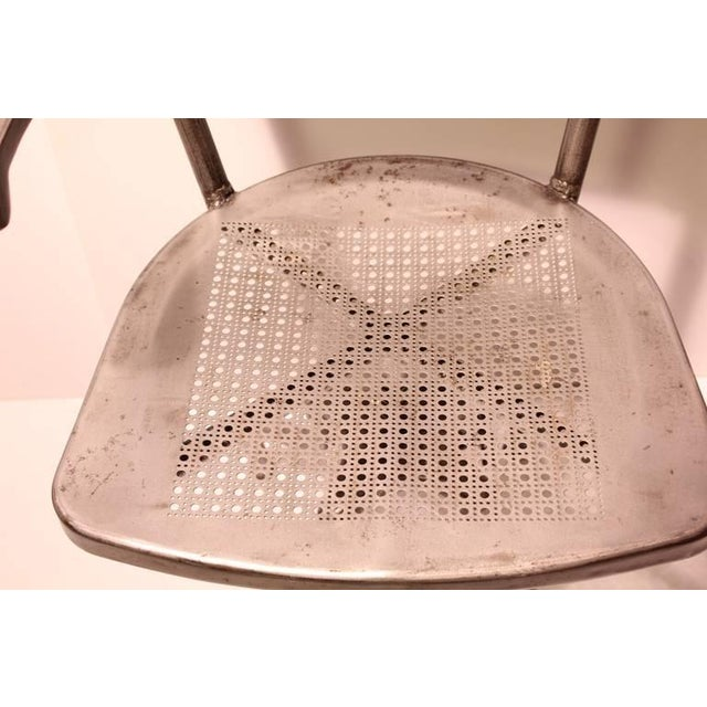 1930's Vintage Industrial Metal Office Chair For Sale - Image 4 of 4
