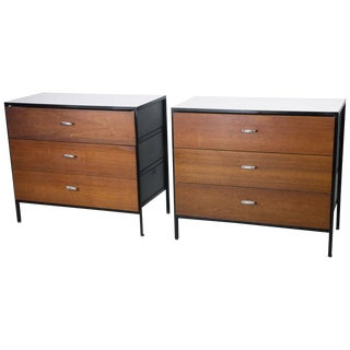 Pair of 'Steel Frame' Dressers by George Nelson for Herman Miller For Sale