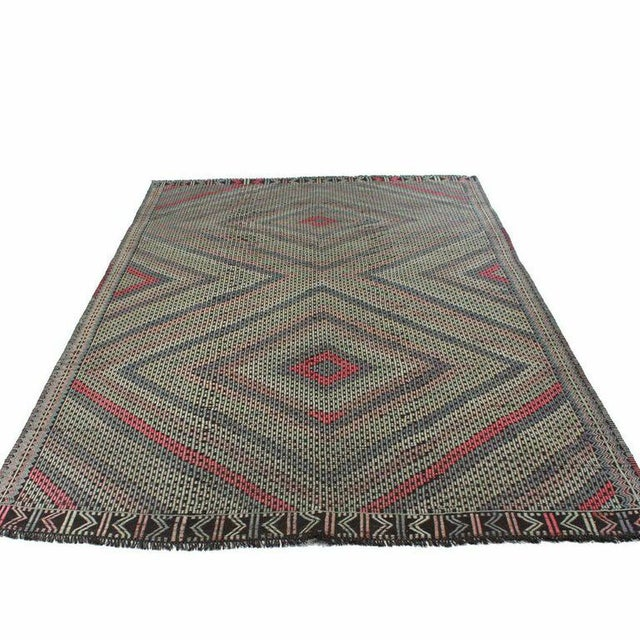 Vintage Cicim Turkish Kilim - 6'7'' x 9' - Image 2 of 4