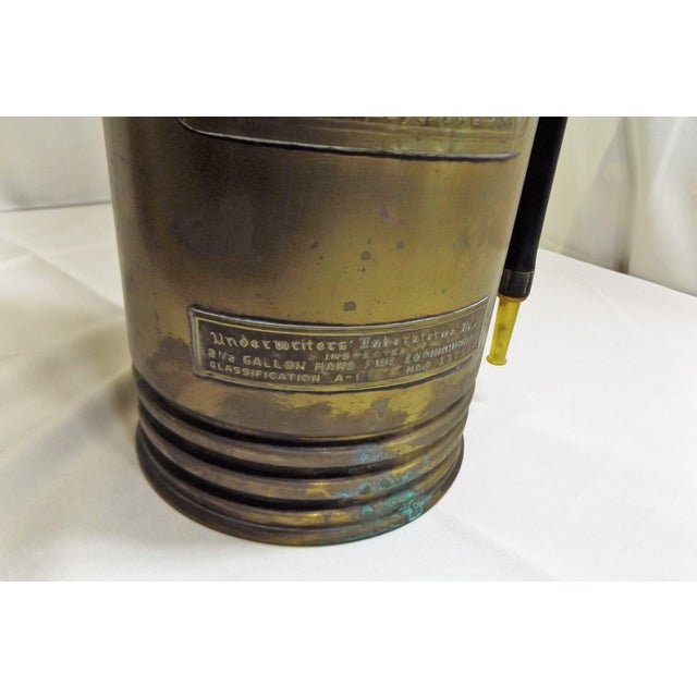 Vintage Brass Industrial Fire Extinguisher - Image 6 of 8