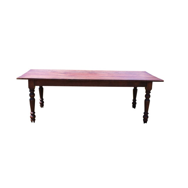 Large Rustic Farm Table For Sale - Image 12 of 12