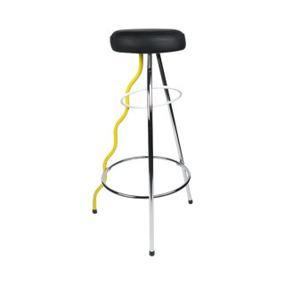 Yellow Duplex Bar Stool by Javier Mariscal for Bd Barcelona For Sale