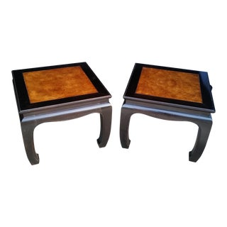 1970s Asian Henredon Side Tables - a Pair For Sale