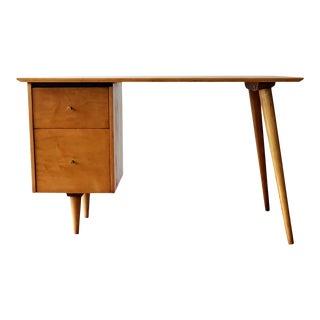 1950s Paul McCobb for Planner Group Blonde Maple Writing Desk For Sale