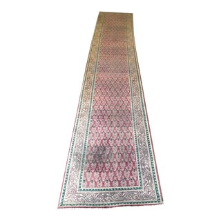 "Antique Tabriz Rug Runner - 3'6"" x 15'"