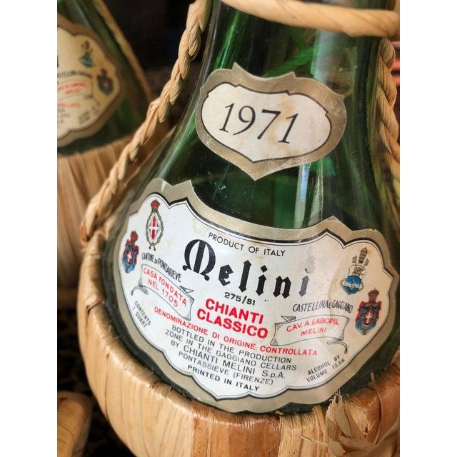 Vintage Italian Demijohn Wine Bottles - Set of 8 For Sale - Image 11 of 13
